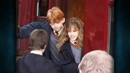 Кадр из фильма Гарри Поттер, где у Эммы Уотсон накладные зубы