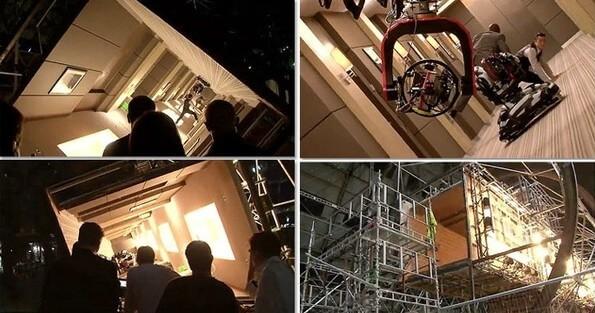 Сцена в коридоре, фильм Начало