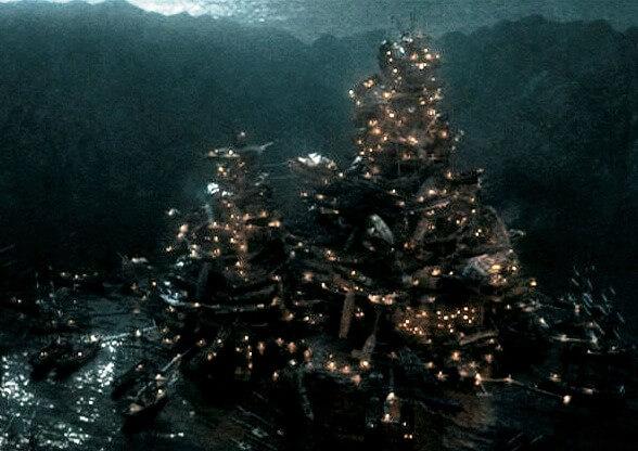 Свечи в бухте погибших кораблей (Фильм Пираты Карибского моря)
