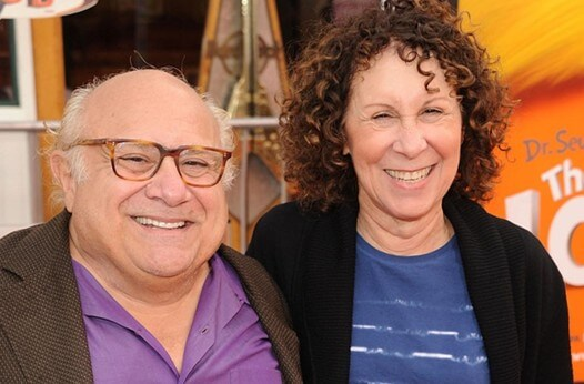 Семейная пара Дэнни Де Вито и Реа Перлман
